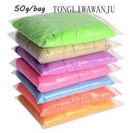 Wholesale TONGLI Brand g bag Kinetic Clay Dynamic Sand Amazing Indoor Magic Play Sand Educational Children Toys Colors Mars Space Sand
