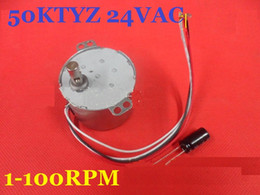 Wholesale Magnet Motors - 1PCS 50KTYZ 24V AC 8W 1, 2.5, 5, 8, 10, 15, 20, 30, 50, 80 100RPM,Permanent Magnet Synchronous Gear Motor