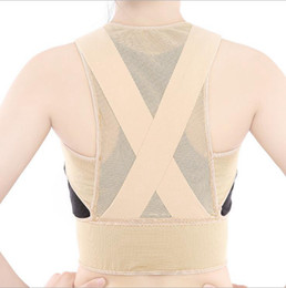 Wholesale Posture Therapy Brace - Back Posture Corrector Brace Women Humpback Shoulder Support Therapy Correction Belt Health Care Body Underwear Shaper Corset 100pc LJJO2696