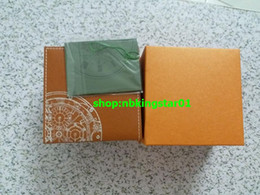 Wholesale gift cards for sale - Free shipping New Luxury Mens Roles Box Swiss Original Brand orange Boxes Papers Watches Booklet Card Gift For Man Men Women Sale 601