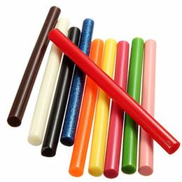 Wholesale Melt Glue Sticks - New 10PCS 7mm Vintage Sealing Mix Glue Wax Stick Melting Gun Envelope Invitation Stamp 7 x 100mm