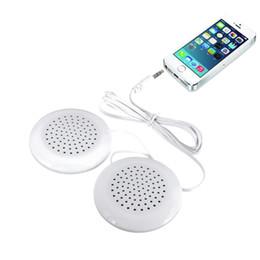 Wholesale Speaker Pillows - Wholesale- New Portable Pillow Speaker Cute White Louderspeakers Universal 3.5mm for MP3 MP4 CD forPhone