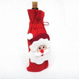 Wholesale Wine Bottles For Sale Wholesale - Hot Sale Non Woven Christmas Santa Claus Wine Bag Wine Bottle Cover For Christmas Decorations ELCD024