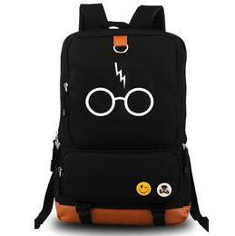 Wholesale Black Journey - Round glasses backpack Harry Potter daypack Long journey schoolbag Cartoon rucksack Sport school bag Outdoor day pack