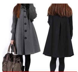 Wholesale Maternity Clothes Long Skirts - Sale Casacos Femininos Outwear Coat Abrigos Mujer Autumn And Winter Cloak Outerwear Women Wool Coat Long Maternity Clothing #C5