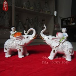 Wholesale Black Ceramic Elephant - Home Furnishing Decor furnishings ceramic creative wedding gifts crafts high-end large elephants living room decoration