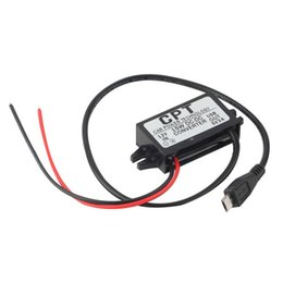 Wholesale 12v Usb 3a - Wholesale- 1pc High Quality Car Charger DC Converter Module 12V To 5V 3A 15W with Micro USB Cable Newest Free Shipping