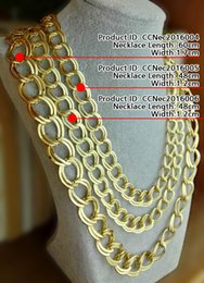 Wholesale Elegant Jewelry For Men - Fashion Necklaces Chain Elegant Jewelry For Men Chains Gold plated smooth Length60cm Width1.7cm