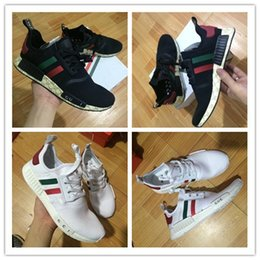 Wholesale Shoes Men Free Running - Original 2017 white New NMD green Sneakers Women Men Real Boost sports shoes X R1 Running Shoes Training Shoes free shiping