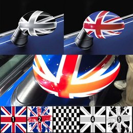 Wholesale Wholesale Vinyl Films - Styling Car Rear View Mirror Cover Sticker Jack Union for MINI Cooper S R52 R53 R55 R56 R59 R60 F55 F56 Countryman Clubman