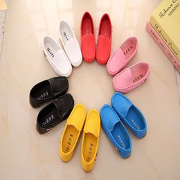 Wholesale Loafer Shoes Kids - Children Shoes 2017 New Spring Autumn Girls Boys Loafers Slip On Casual Shoes PU Leather Breathable Kids Shoe
