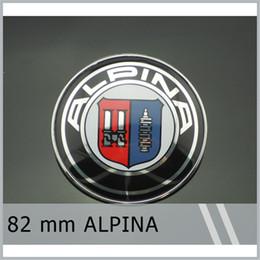 Wholesale Bonnet Badge - 20Pcs Lot 82mm ALPINA Chrome Bonnet Hood Emblem Badge E9 E21 E28 E30 E46 E87 E90 Free Shipping
