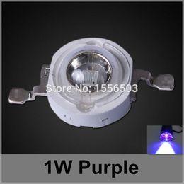 Wholesale Power Source 1w - Wholesale- 50 Pcs lot LED Chip Beads 1W Purple High Power LEDs Balls Purple Violet Light Source LED Lamp Emitting Diode