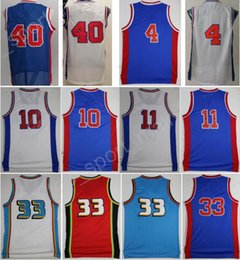 Wholesale Men Isiah Thomas Jerseys Throwback Basketball Dennis Rodman Bill Laimbeer Jersey Grant Hill Drummond Jackson with player name