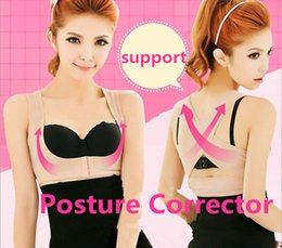 Wholesale Back Support Good Posture - Women Breast Back Shaper Beauty Stretch Back Good Posture X Corrective Fat Burn Lifter Corset bra shaper Push Up Support Corrector Underwear