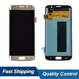 Wholesale Wholesale Cellphone Parts - Original Quality Cellphone Lcd for Samsung S7 edge G935 G935F Display Assembly Touch Digitizer Complete Repalcemnt Repair Parts