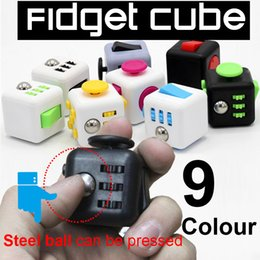 Wholesale Plastic Dice Toy - 3.3*3.3 Fidget Cube dice Relieves anti Stress And Anxiety for Children and Adults Anxiety Attention Toy Hand Spinner Fidget Toys wholesale