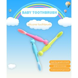 Wholesale Baby Health - cartoon baby and gravida silicone toothbrush soft bristles health mouth guard