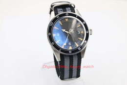 Wholesale Mens Nylon Watch Bands - Luxury Brand aaa Watch Co-Axial 007 Movie Spectre Limited Fabric Band Black dial Fluted Bezel Transparent Automatic Mens Watch Men's Watches