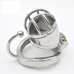 chastity cage steel Australia - Genuine male chastity chaste stainless steel lock cb6000 short arc belt with a hook ring ball cage card penis new release