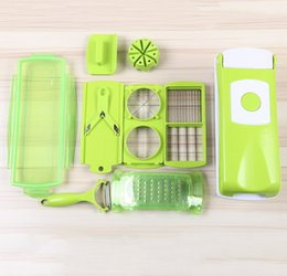Wholesale Dicer Plus - 12pcs Multi Vegetable-Fruit Cutter Super Slicer Plus Vegetable Fruit Peeler Dicer Cutter Chopper Nice Grater with Free Shipping