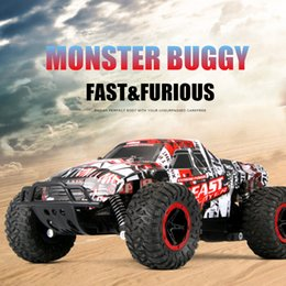 Wholesale Electric Off Road - RC Cars 1:16 Climbing Buggy 4WD Monster Truck Bigfoot Remote Control Off-Road Vehicles Radio-controlled Car Top Toys For Boys