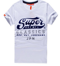 Wholesale graphic tees t shirt - Hot Summer SUPER men's cotton Vintage Logo T shirts Fashion crew Neck Graphic Tee men top tees polos shirts