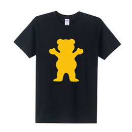 Wholesale Wholesale Skateboard Supplies - Wholesale- New GRIZZLY GRIP Diamond Supply T Shirts Men Women Hip Hop Men Skateboard T-shirt Short Sleeve Cotton Tops Free Shipping OT-126