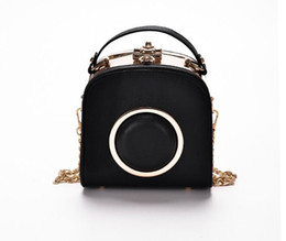 Wholesale Female Camera Bags - Summer bag female leisure shoulder 2017 small square camera bag new han edition joker contracted chain shoulder strap bag