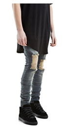 Wholesale Bind Fly - European Gaojiefeng Holes Destroyed Jeans Bound Feet Elastic Force Men And Women Hot