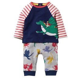 Wholesale Baby Girls Tracksuits - Kidsalon Children Clothing Sets Boys Clothes Kids Back to School Outfit Baby Girls Clothing Tracksuit with Animal Applique 2-7T