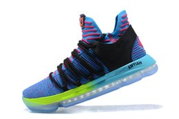 Wholesale Sport Gift Boxes - New KD 10 Doernbecher Basketball Shoe Top Quality Kevin Durant Signature Shoes Outdoor Sports Sneakers With Box Christmas Gift Size 40-46