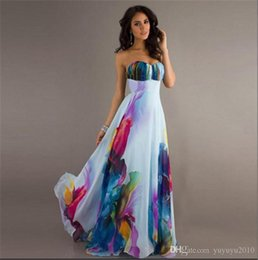 Wholesale Printed Wrap Dress - Women Sexy Wrapped Chest Sleeveless Off Shoulder Backless Maxi Dresses