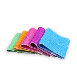 Wholesale Cotton Polyester Wash Cloths - Double stitched thick coral velvet clean towel non-stick oil wash towel kitchen wipes clean cloth soft and comfortable