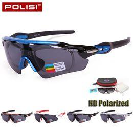 Профессиональные солнцезащитные очки онлайн-Wholesale- Professional New Polarized Cycling Eyewear Sunglasses Bike Bicycle Goggles Outdoor Sports Cycling Glasses UV400 Oculos Ciclismo