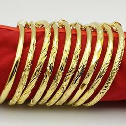 Wholesale Copper Push Plate - Good A++ Plated 24K gold round belly bracelet brass gold plated push-pull bracelet FB507 mix order 20 pieces a lot Slap & Snap Bracelets