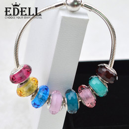 Wholesale Fascinating Holidays - EDELL Wholesale Fashion 925Sterling Silver Screw Fascinating section Glass Beads Fit Pandora Jewelry Charm Bracelets & Necklaces Collocation