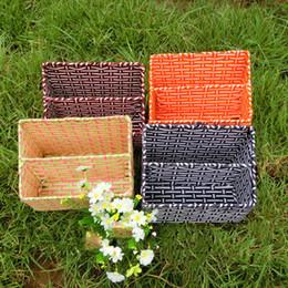 Wholesale Wholesale Decorative Containers - Pastoral Handmade Decorative Wicker Basket float flower vase Flowerpots Containers for Artificial Flower home decor Storage Basket