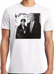 Wholesale Bill Sleeves - PubliciTeeZ Bill Clinton Monica Lewinsky Adult Photo T-Shirt S-3XL Style Vintage Tees Short Sleeve Funny