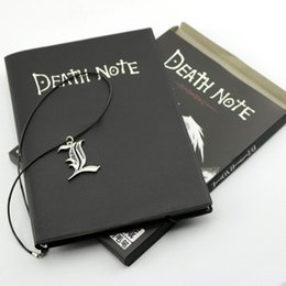 Wholesale Death Note Pen - Death Note Notebook L Necklace Ryuk Feather Pen Book Japan Anime Writing Journal