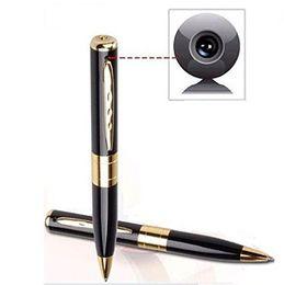 Wholesale Avi Tf Card - mini HD camera pen camcorders 1280*960 avi HD Spy pen Cameras hidden Pen recorder DVR support 32G Micro TF Card Hidden camera listen device