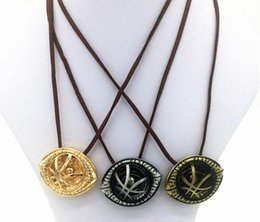 Wholesale Cord Necklaces For Women - New Doctor Strange Eye of Agamotto Pendant Necklaces Leather Cord Stampunk Necklace for Women Men Chritsmas Gift