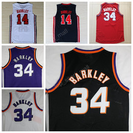 Wholesale Usa Team - Free Shipping 34 Charles Barkley Jersey Throwback Basketball Jerseys Barkley Uniforms 1992 USA Dream Team Vintage Sport Purple Black White