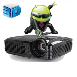 Wholesale beamer lamp - Wholesale-Quad core Android 4.4 Wifi Full HD 5500Lumen 240W lamp 3D Smart DLP Projector Contrast 16000:1 Digital Video Proyector Beamer