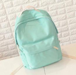 Wholesale Leather Japanese Girls - Lemon Kitten Japanese Canvas Solid School Bag Backpack For Women Young Girl Hot Lona Escolar Mochila Feminina Women Backpacks