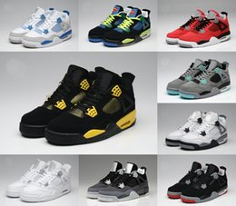 Wholesale Money Split - 2017 air retro 4 Basketball Shoes men retro 4s Pure Money Royalty White Cement Premium Black Bred Fire Red Sports Sneakers size 8-13