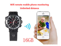 Wholesale Spy Watches Support - 720P HD WIFI Watch Remote Monitoring Camera Watch Support LED floodlight Separate Voice-Recording IR Night Vision 16GB,Y31 watch spy camera