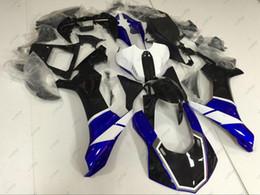 Wholesale Yzf R1 Black - Bodywork YZF R1 2015 Fairing Kits for YAMAHA YZFR1 2016 Blue White Black Plastic Fairings YZF1000 R1 16 2015 - 2016