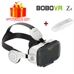 Wholesale Glasses Goggles Iphone - Wholesale- BOBOVR Z4 Casque 3D Glasses VR Box Virtual Reality Goggles Google Cardboard 3 D Vrbox Remote for Samsung iPhone Android Gamepad