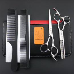 Wholesale Hair Shears Children - Lyrebird Hair Cutting or Thinning Scissors or set 6 INCH Silver reguler hairdresser hair scissors shears Excellent NEW